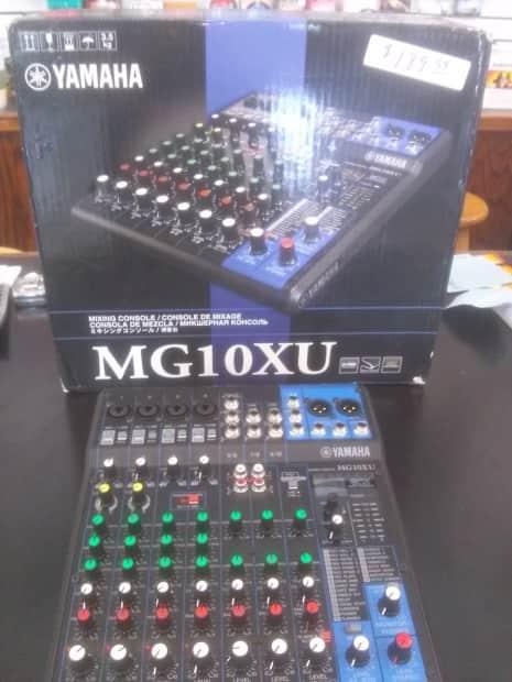 Yamaha mg10xu 10 input mixer 2015 open box demo reverb for Yamaha mg10xu usb cable