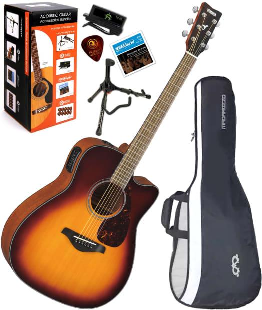 Yamaha Fgx700sc Bs Folk Cutaway A E Guitar Brown Sunburst