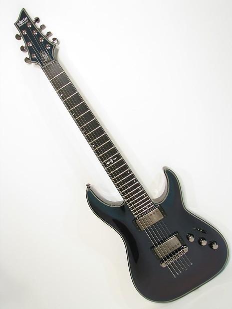 schecter hellraiser hybrid c 7 electric guitar ultraviolet reverb. Black Bedroom Furniture Sets. Home Design Ideas