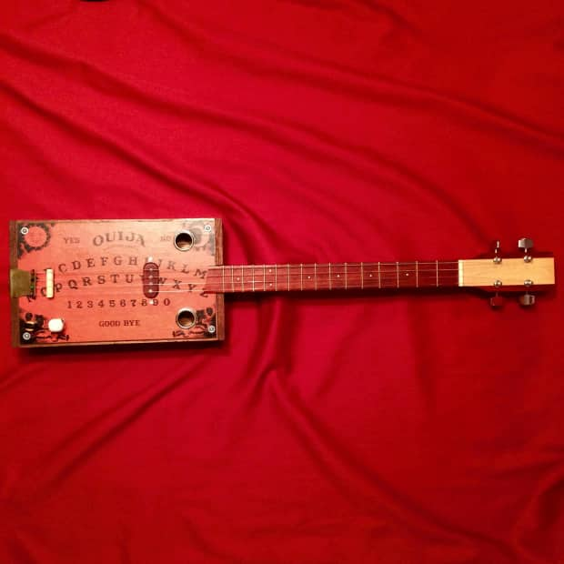4 string ouija board cigar box guitar sound demo reverb. Black Bedroom Furniture Sets. Home Design Ideas