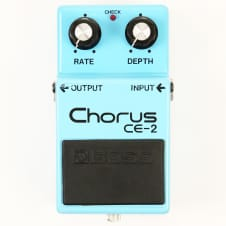 1980 Boss CE-2 Chorus Pedal - Early Silver Screw Model in Original Box, Very Clean, Sounds Great image