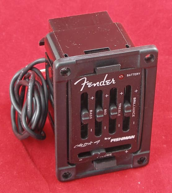 fender classic 4 by fishman acoustic guitar preamplifier reverb. Black Bedroom Furniture Sets. Home Design Ideas