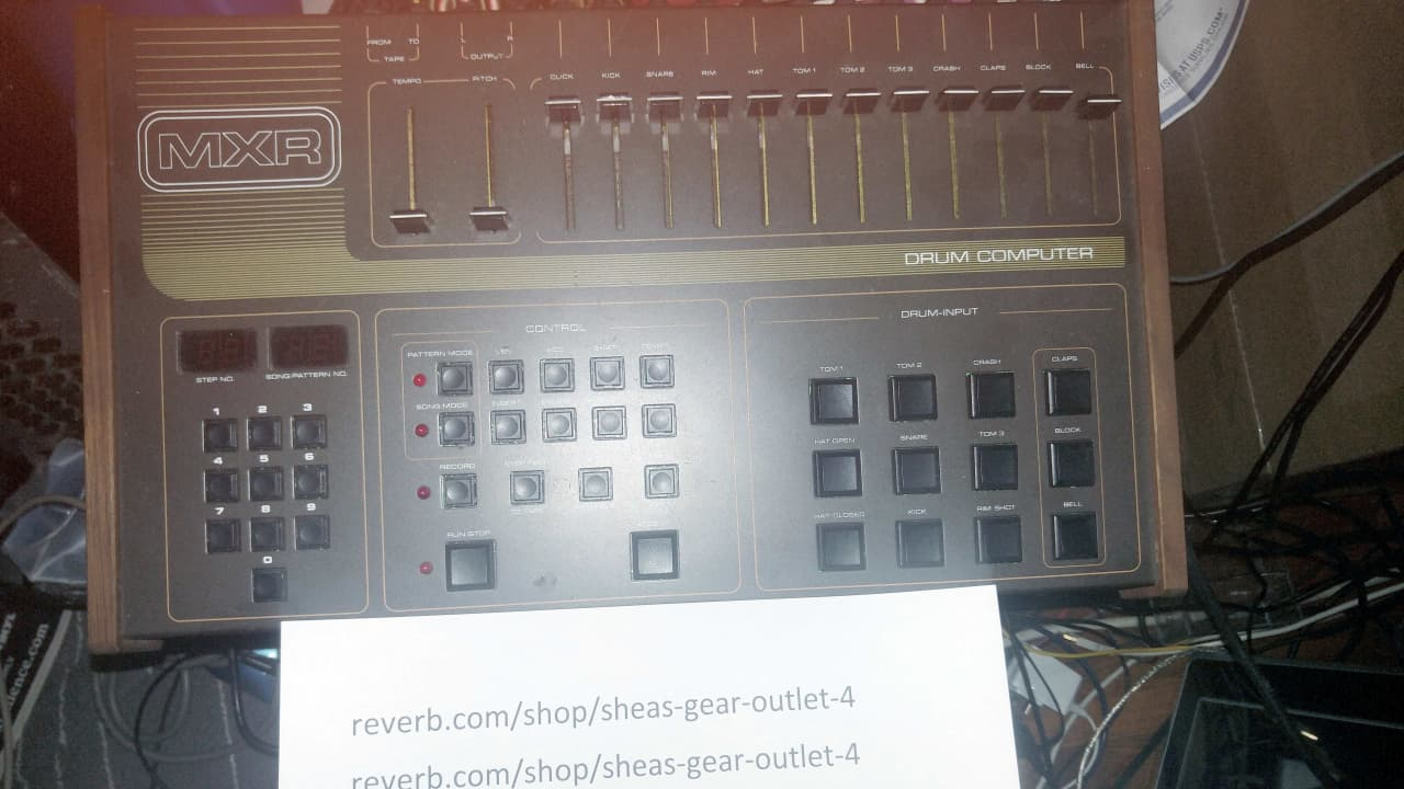 mxr 185 drum machine 1983 near museum quality like reverb. Black Bedroom Furniture Sets. Home Design Ideas