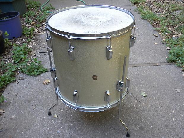 1964 ludwig silver sparkle floor tom drum 16 x16 reverb for 16 floor tom drum