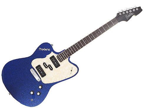 italia modena revolution electric guitar blue sparkle super rare reverb. Black Bedroom Furniture Sets. Home Design Ideas