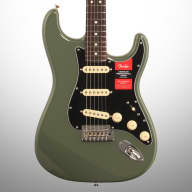 <p>Fender American Pro Stratocaster Electric Guitar, Rosewood Fingerboard (with Case), Antique Olive</p>  for sale