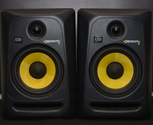 krk rokit 6 rp6 g3 active studio monitors pair reverb. Black Bedroom Furniture Sets. Home Design Ideas