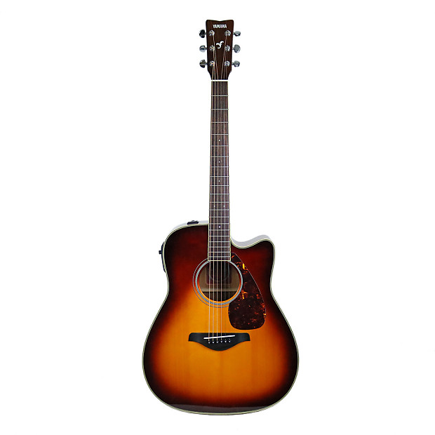 Used yamaha fgx720sca acoustic electric guitar in brown for Yamaha fgx720sca price