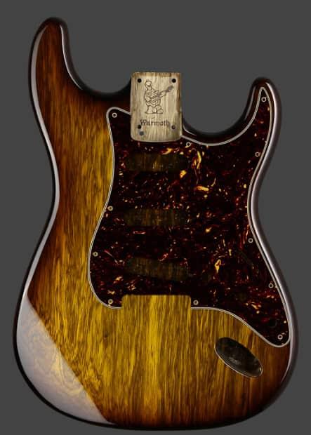 Fender Warmoth Strat Body 2016 Tobacco Burst And Gold Reverb
