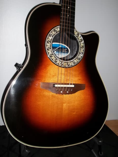 Ovation Shallow Body Acoustic Electric Balladeer 1984