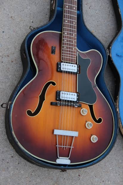 hofner built gagliano brand 12 string electric guitar 1960 39 s reverb. Black Bedroom Furniture Sets. Home Design Ideas