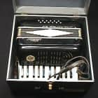 Vintage Italian Made Noble 12 Bass Accordion in  Original Case  & Ready to Play as-is image
