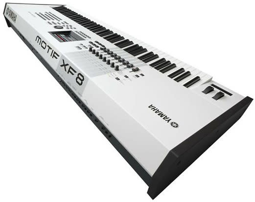 yamaha motif xf8 88 key synthesizer workstation in white reverb. Black Bedroom Furniture Sets. Home Design Ideas