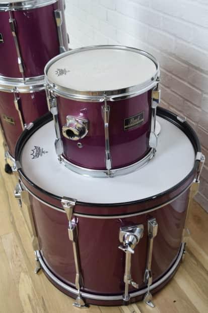 pearl export 4 piece drum set kit excellent used drums for reverb. Black Bedroom Furniture Sets. Home Design Ideas