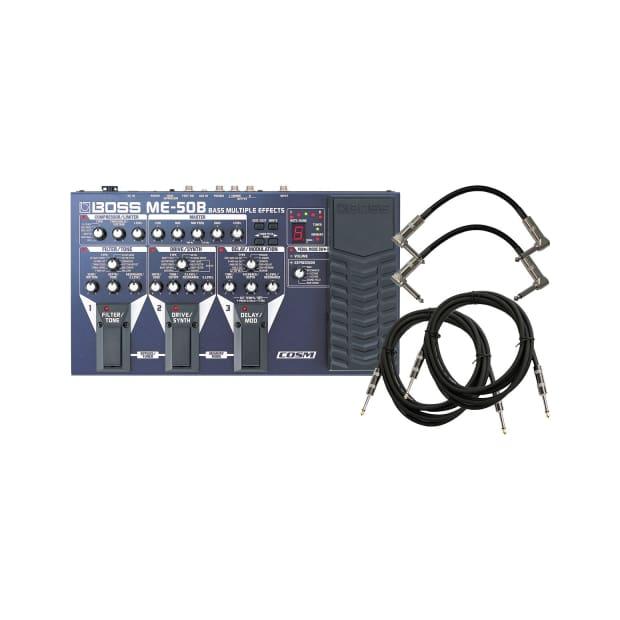 boss me 50b bass multi effects pedal bundle reverb. Black Bedroom Furniture Sets. Home Design Ideas