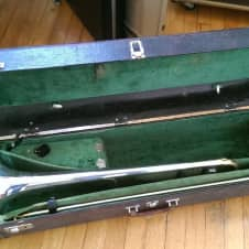 Vintage King 3-B Silversonic Trombone 1970's w/  Original Case image