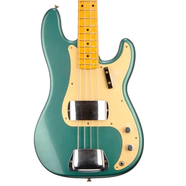 fender 1957 precision bass journey man sherwood green reverb. Black Bedroom Furniture Sets. Home Design Ideas