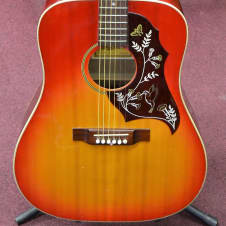 Vintage 1970's Aria A-621 Hummingbird 6-String Acoustic Guitar Made In Japan *Thin Cracks On Back image