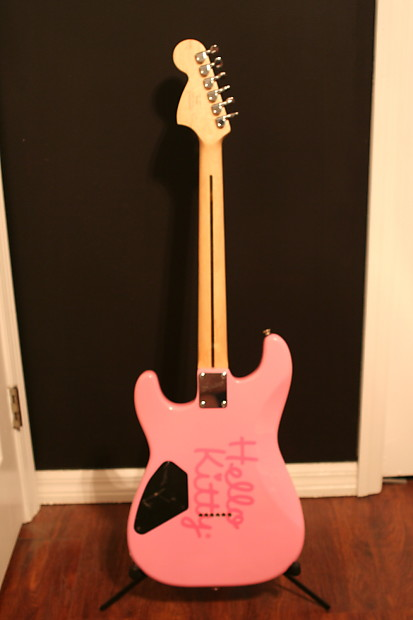 Pink Squier By Fender Hello Kitty Stratocaster Reverb
