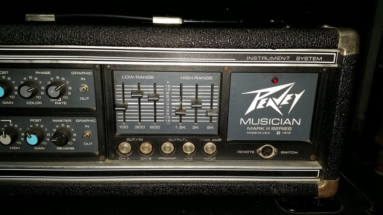 Peavey Mark Iii Musician Amplifier With Half Stack Speaker
