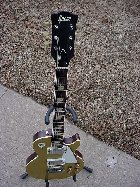 Early 1970 71 Greco Lp Style Lawsuit Era Goldtop Guitar