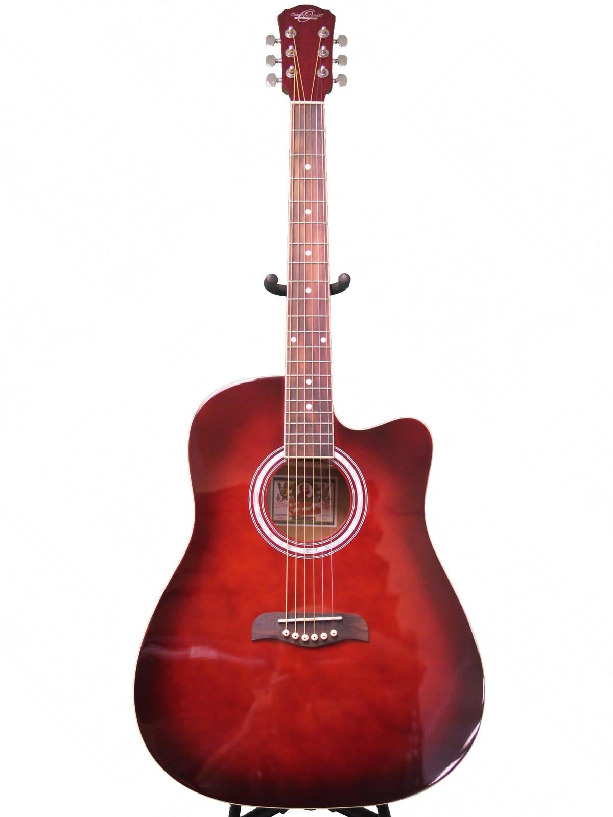 oscar schmidt by washburn acoustic guitar w gig bag red reverb. Black Bedroom Furniture Sets. Home Design Ideas