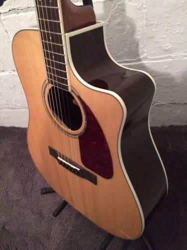 Fender Cd320asce Cutaway Acoustic Dread Cut Away Electric