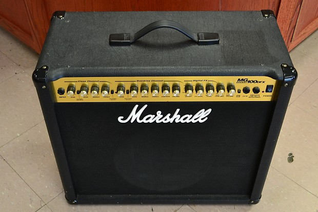 Marshall Mg100dfx Guitar Combo Amplifier Amp 100w 1x12
