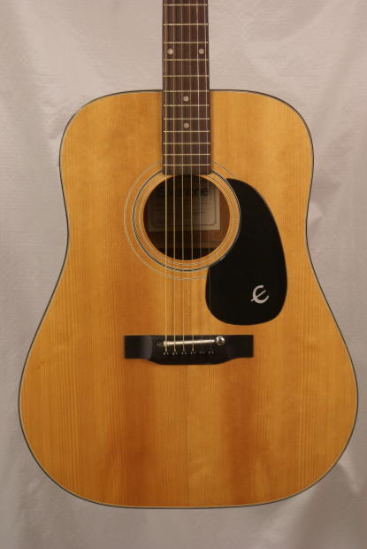 vintage epiphone ft 140 made in japan acoustic guitar with light repair and hardshell case reverb. Black Bedroom Furniture Sets. Home Design Ideas