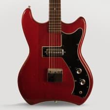 Guild  S-50 Jet Star Solid Body Electric Guitar (1964), ser. #36010, black gig bag case. image