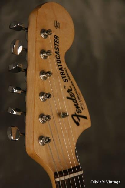 Vintage Half Fenders : Original fender stratocaster refinished black reverb