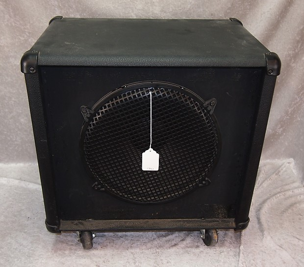 crate slm 1x15 bass cab cabinet with casters reverb. Black Bedroom Furniture Sets. Home Design Ideas