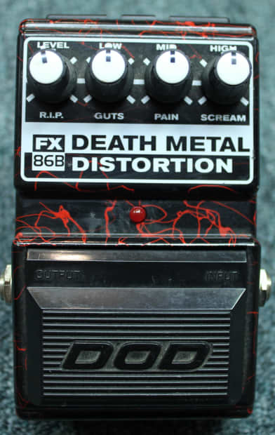 Guitar Pedals For Death Metal : late 1990 39 s dod death metal fx86b guitar distortion effects reverb ~ Hamham.info Haus und Dekorationen
