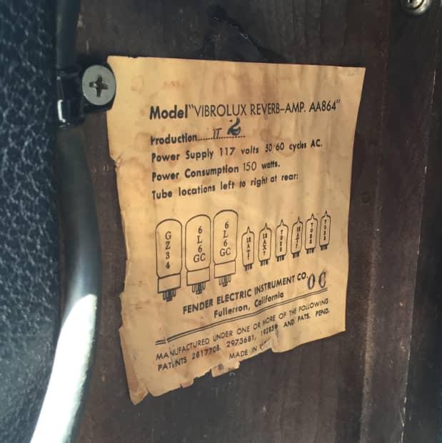 Vintage Fender Vibrolux Reverb 68