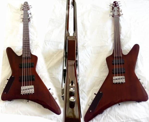 sleekguitars 4 string short scale fretless bass 5 string reverb. Black Bedroom Furniture Sets. Home Design Ideas