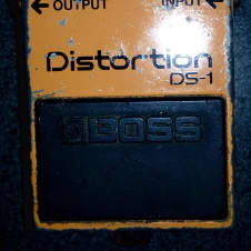 Vintage 1980's Boss  Ds-1 distortion guitar fx  pedal made in japan mij image