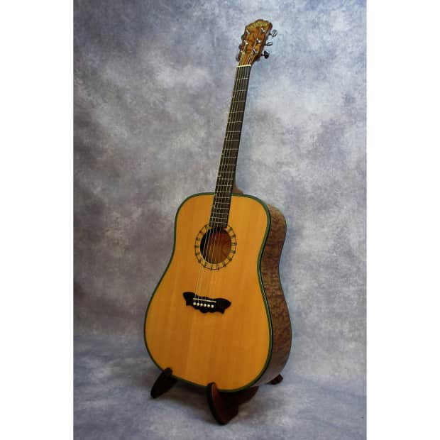 washburn 46s dreadnought acoustic guitar w case natural reverb. Black Bedroom Furniture Sets. Home Design Ideas
