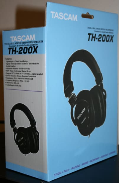 nib tascam th 200x studio headphones brand new in box reverb. Black Bedroom Furniture Sets. Home Design Ideas