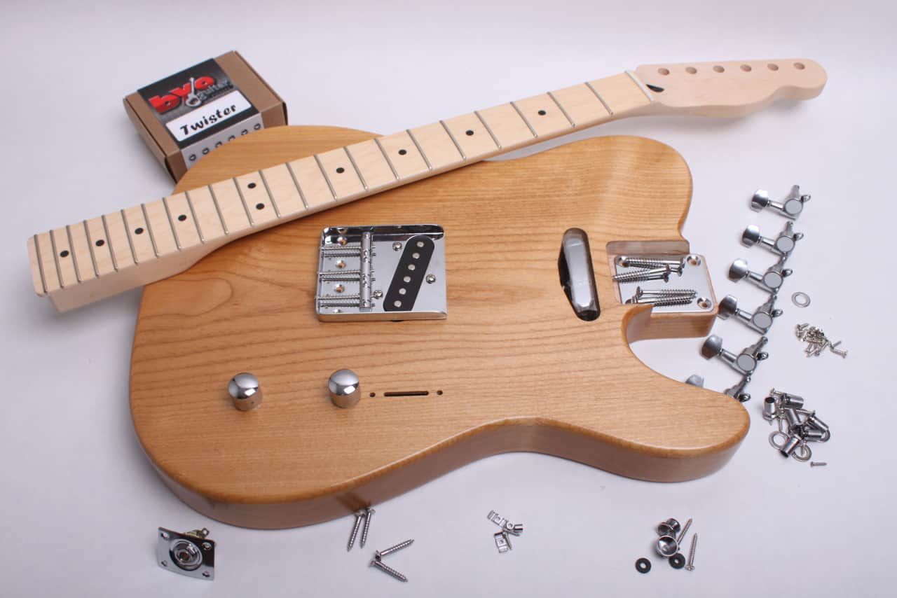 byoguitar rear rout telecaster electric guitar kit finished reverb. Black Bedroom Furniture Sets. Home Design Ideas