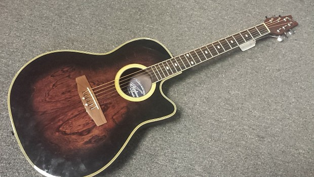 Franks Body Shop >> Ovation Applause AE-38 Acoustic-Electric Guitar - Brown ...