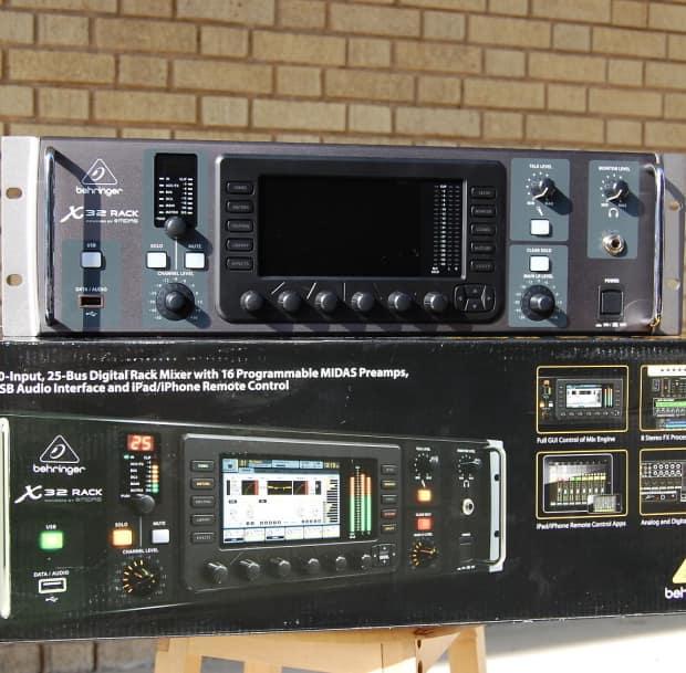 behringer x32 rack 40 input rackmount digital mixer with ios reverb. Black Bedroom Furniture Sets. Home Design Ideas