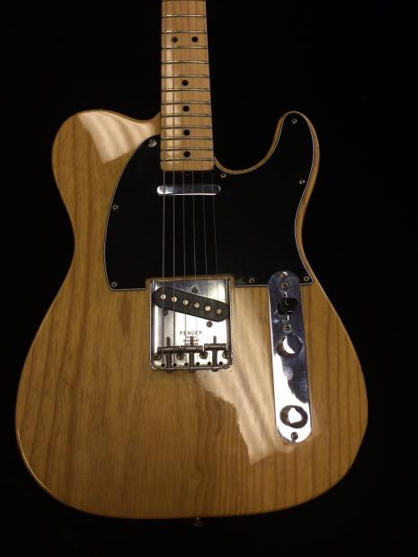 fender tele 1975 telecaster electric guitar in natural finish in great condition with ohsc reverb