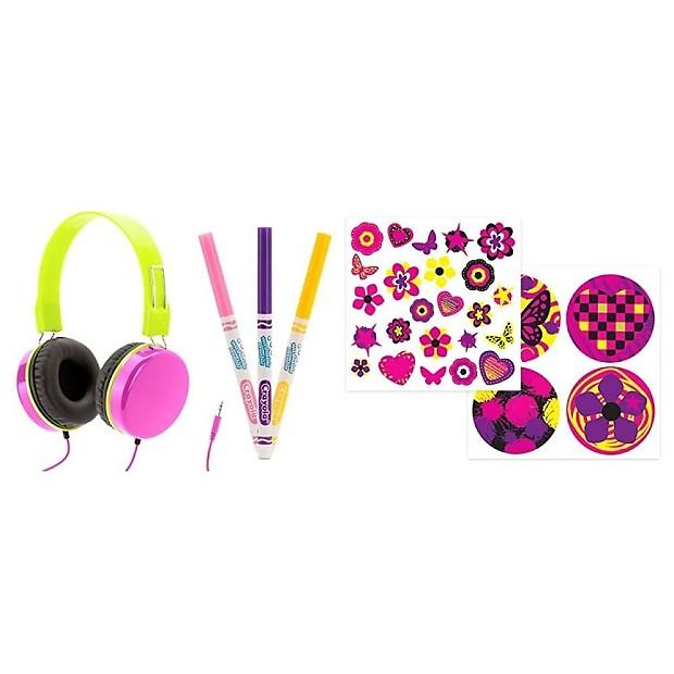 Griffin Crayola MyPhones Volume-Limiting Headphones (Pink ...