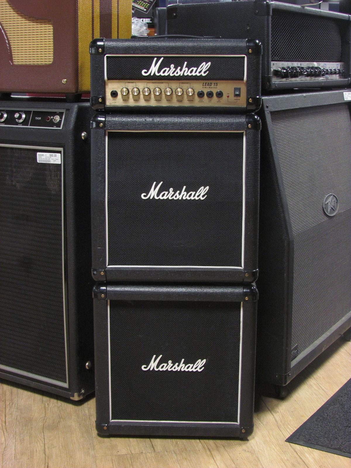 marshall mg15cfxms 15w guitar mini stack reverb. Black Bedroom Furniture Sets. Home Design Ideas