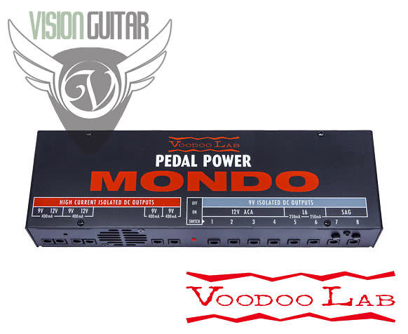 new voodoo lab pedal power mondo 9 volt supply 12 isolated outputs reverb. Black Bedroom Furniture Sets. Home Design Ideas