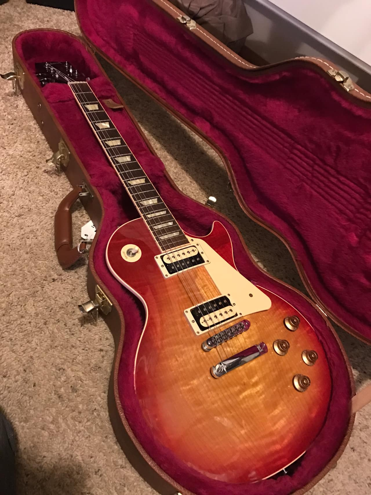 gibson les paul traditional pro ii 2014 heritage cherry reverb. Black Bedroom Furniture Sets. Home Design Ideas