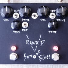 Rawk D Son Of Blues Point To Point Hand Wired Dual Overdrive The Rawd Into KoB image