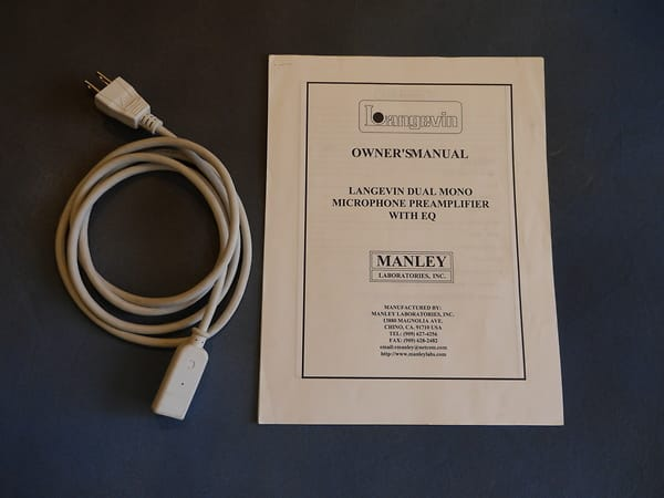 Manley LANGEVIN DUAL MONO MICROPHONE PREAMPLIFIER WITH EQ