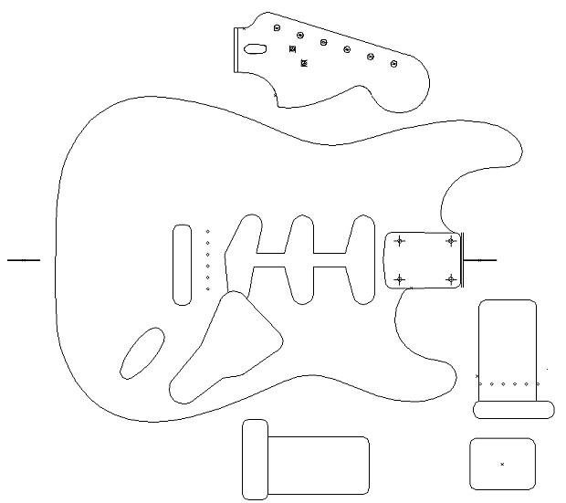 fender stratocaster 1960 template  vinyl guitar making