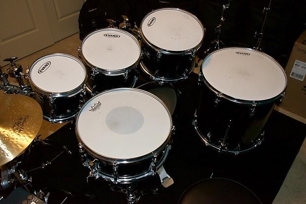 yamaha tour custom black onyx drum set reverb. Black Bedroom Furniture Sets. Home Design Ideas